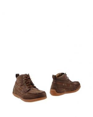 Полусапоги и высокие ботинки SEBAGO. Цвет: темно-коричневый