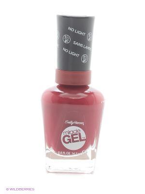 Гель лак для ногтей Miracle Gel, Тон 440 dig fig SALLY HANSEN. Цвет: бордовый