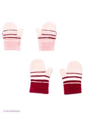 Варежки, 2 пары FOMAS. Цвет: розовый