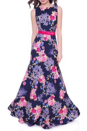 Платье Olivegrey. Цвет: сине-розовый