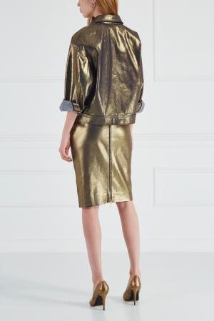 Хлопковая юбка Chapurin. Цвет: золотой