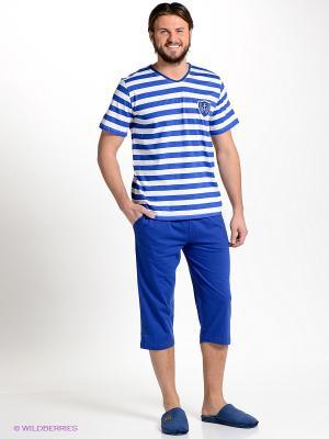 Домашний костюм Vienetta Secret. Цвет: синий, белый
