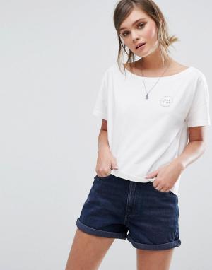 Jack Wills Укороченная oversize-футболка с логотипом. Цвет: белый