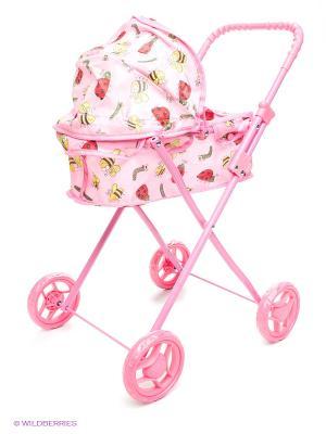 Коляска для кукол 1Toy. Цвет: розовый