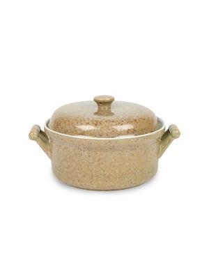 Кастрюля из жаростойкой керамики (духовка/микроволновка) 1,2 л Peterhof. Цвет: бежевый