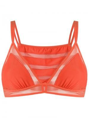 Strappy bra Giuliana Romanno. Цвет: жёлтый и оранжевый