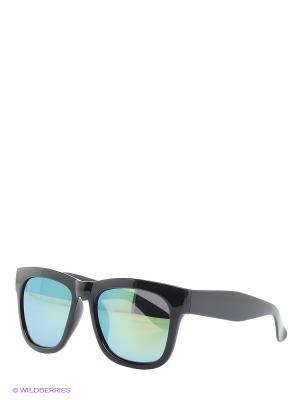 Очки Malibu (черная оправа зеленые линзы) Kawaii Factory. Цвет: черный