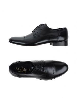 Обувь на шнурках MALDINI. Цвет: черный