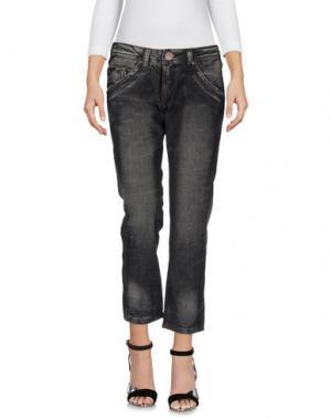 Джинсовые брюки CORLEONE. Цвет: черный