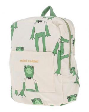 Рюкзаки и сумки на пояс MINI RODINI. Цвет: слоновая кость