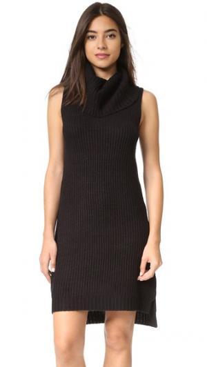 Платье-свитер Brandy с воротником под горло BB Dakota. Цвет: голубой