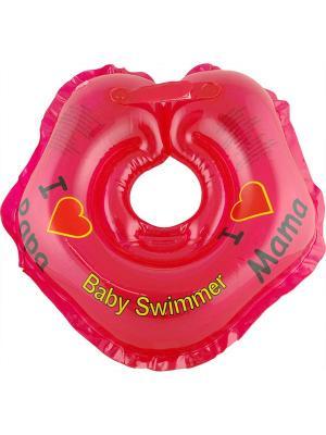 Круг красный Baby Swimmer. Цвет: красный