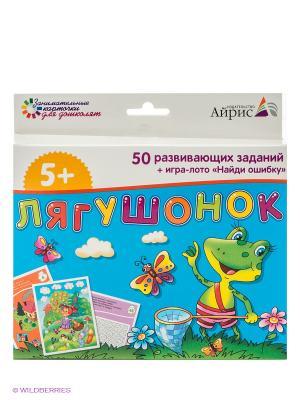 Набор занимательных карточек для дошколят. Лягушонок АЙРИС-пресс. Цвет: синий