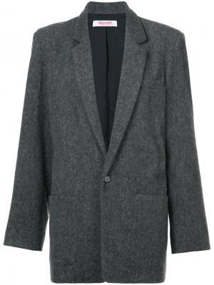 Меланжевый однобортный пиджак Organic By John Patrick. Цвет: серый