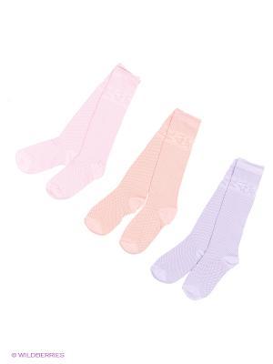 Носки - 3 пары Гамма. Цвет: фиолетовый, коралловый, розовый
