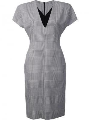 Платье со структурированными плечами Gareth Pugh. Цвет: серый