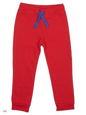 Брюки United Colors of Benetton. Цвет: красный, белый