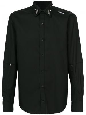 Рубашка с бляшкой логотипом Icosae. Цвет: чёрный