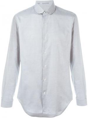Рубашка с итонским воротником Vangher. Цвет: серый