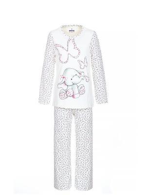 Пижама BAYKAR. Цвет: белый