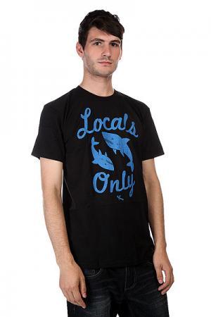 Футболка  Locals Only Black Lost. Цвет: черный,голубой