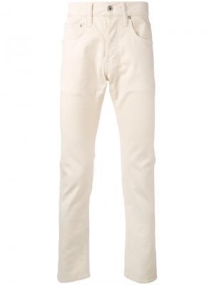Зауженные брюки стандартного кроя Edwin. Цвет: телесный
