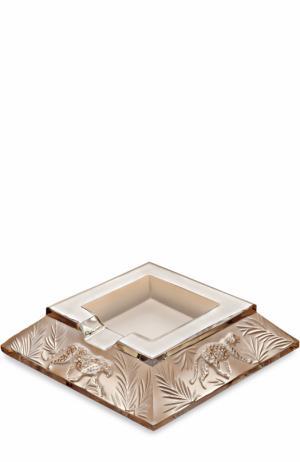 Пепельница Jungle Lalique. Цвет: золотой