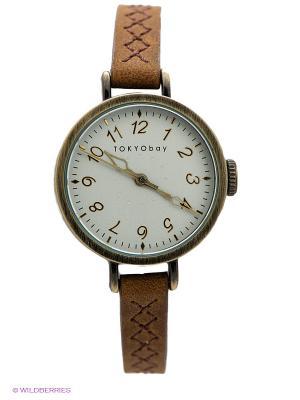 Часы TOKYObay. Цвет: светло-коричневый
