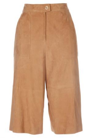 Кожаные брюки Madeleine. Цвет: caramel
