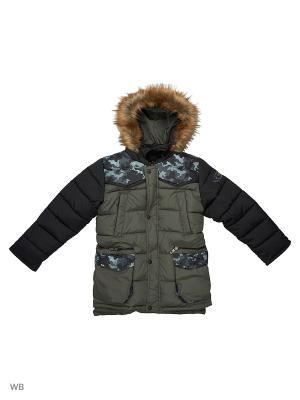 Куртка для мальчика Камуфляж Пралеска. Цвет: оливковый