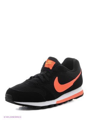 Кроссовки NIKE MD RUNNER 2. Цвет: черный, оранжевый