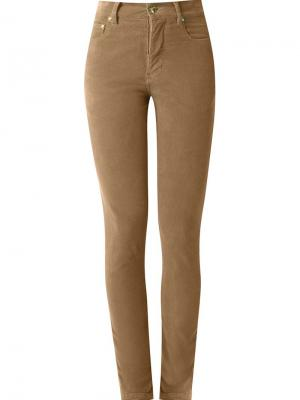 High waisted velvet skinny trousers Amapô. Цвет: коричневый