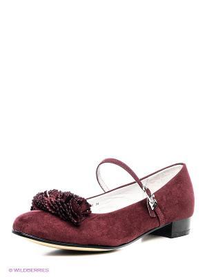 Туфли Flamingo. Цвет: бордовый
