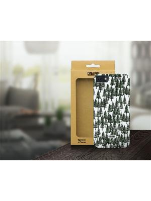 Чехол Елки зеленые для iPhone 5/5S и 6 Siberia by Sleepy. Цвет: белый