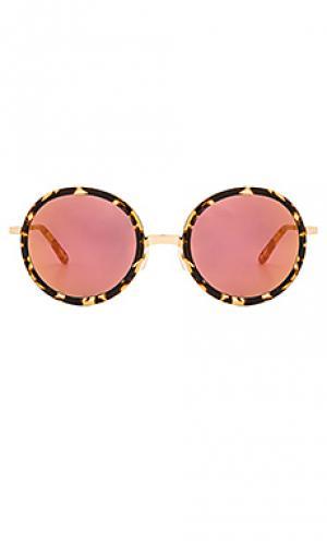 Солнцезащитные очки louisa KREWE du optic. Цвет: коричневый