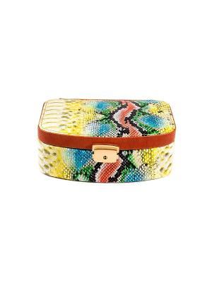 Шкатулка для ювелирных украшений CALVANI. Цвет: бежевый, коричневый