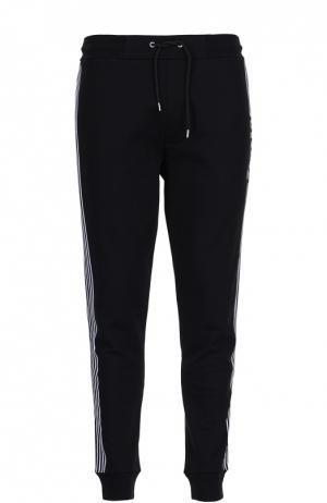 Спортивные хлопковые брюки с лампасами MCQ. Цвет: черный