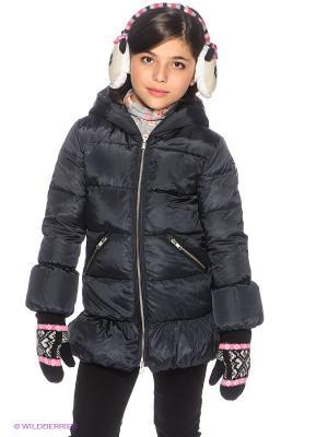 Пальто Bomboogie Kids. Цвет: темно-синий