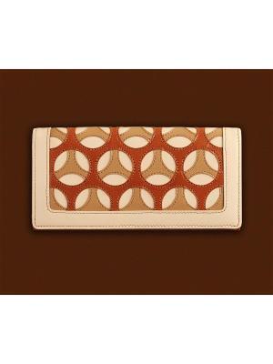 Портмоне женское, с отделением для карт, Арлет белая Domenico Morelli. Цвет: белый, рыжий