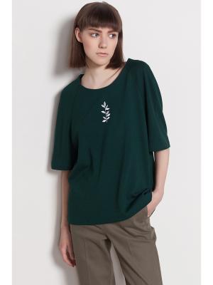 Блузка PEPEN. Цвет: темно-зеленый