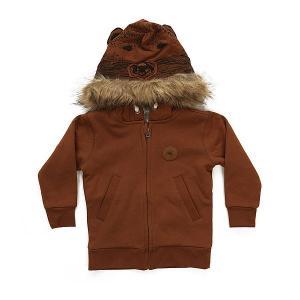 Толстовка классическая детская  Bear Zip Quiksilver. Цвет: коричневый