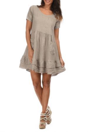 Платье LIN POUR LAUTRE L'AUTRE. Цвет: бежевый