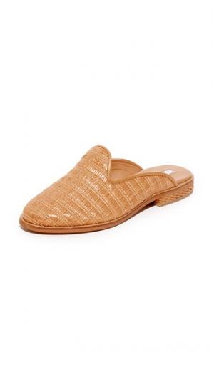 Туфли-слипперы без задников из рафии blank canvas. Цвет: верблюжий