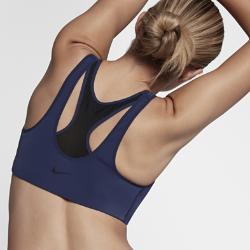 Спортивное бра со средней поддержкой  Zip Nike. Цвет: синий