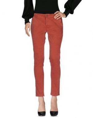 Повседневные брюки PEACOCK BLUE. Цвет: кирпично-красный