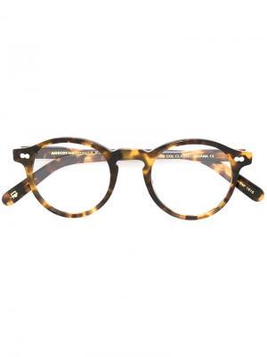 Очки Miltzen с узором черепашьего панциря Moscot. Цвет: коричневый