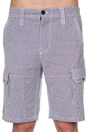 Классические мужские шорты  Dwell Cargo Navy Zoo York. Цвет: белый,синий