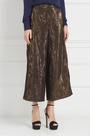 Хлопковые брюки-кюлоты Inshade. Цвет: зеленый