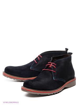 Ботинки El Tempo. Цвет: темно-синий, серо-коричневый, красный