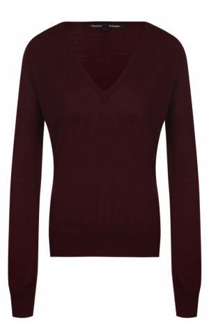 Шерстяной пуловер с V-образным вырезом Proenza Schouler. Цвет: бордовый